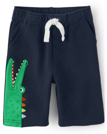 Boys Alligator Pull On Shorts - Critter Camp