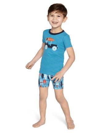 Boys Surf Cotton 2-Piece Pajamas - Gymmies