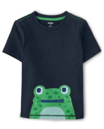 Boys Frog And Dragonfly Top - Critter Camp