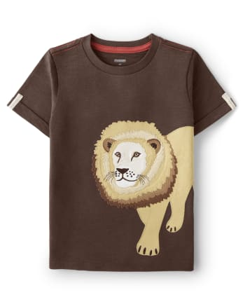 Boys Lion Top - Safari Camp