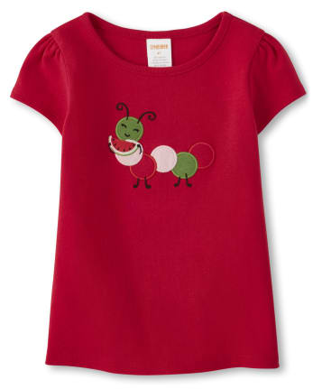 Girls Caterpillar Top - Sweet Watermelon