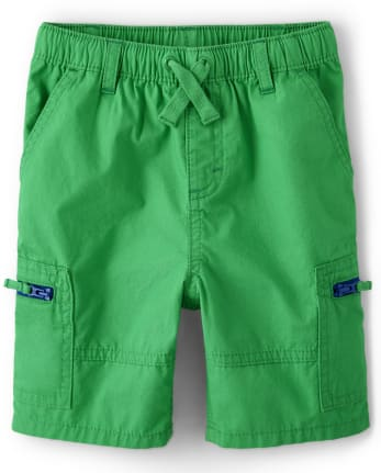 Boys Zip Pull On Shorts - Critter Camp
