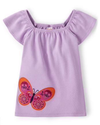 Girls Butterfly Top - Summer Sunsets
