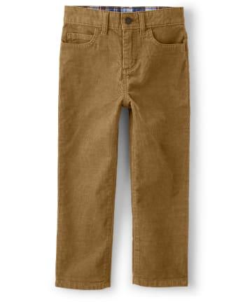 Boys Corduroy Pull On Pants - Western Skies