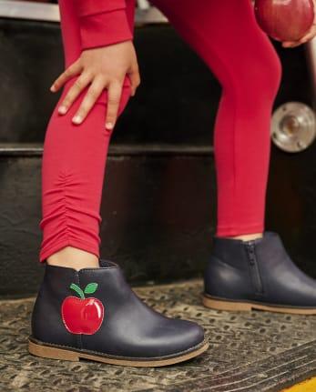 Girls Apple Booties - Teacher's Favorite