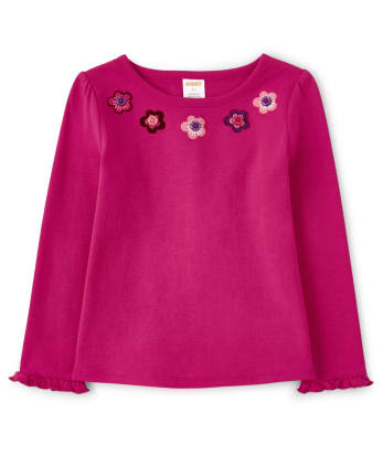 Girls Embroidered Floral Top - Tree House