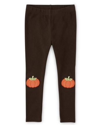 Girls Pumpkin Leggings - Lil Pumpkin