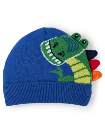 Boys T-Rex Beanie - Dino Dude