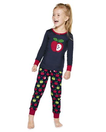 Girls Apple Cotton 2-Piece Pajamas - Gymmies