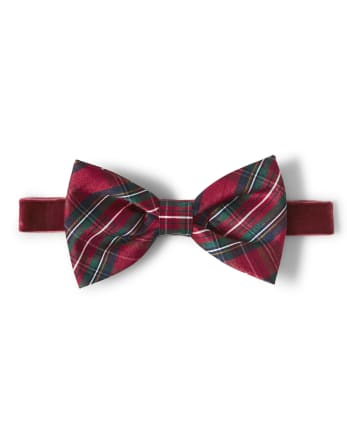 Baby Girls Plaid Bow Headwrap - Family Celebrations Red