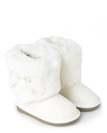 Girls Faux Fur Boots