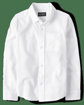 Camisa de botones Oxford de uniforme para niños