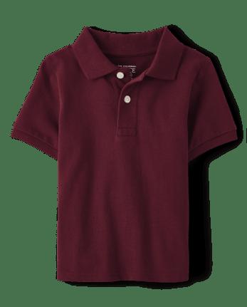 Polo de piqué de uniforme para bebés y niños pequeños