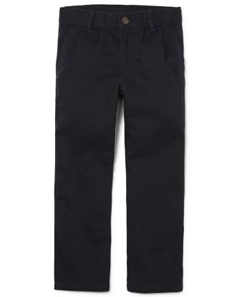 Boys Uniform Pleated Chino Pants