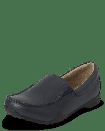 Boys Uniform Slip On Dress Shoes