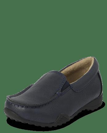 Toddler Boys Uniform Slip On Dress Shoes
