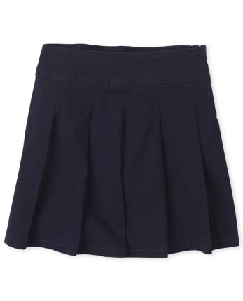 Girls Uniform Stretch Pleated Skort
