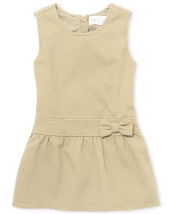 Toddler Girls Uniform Bow Jumper