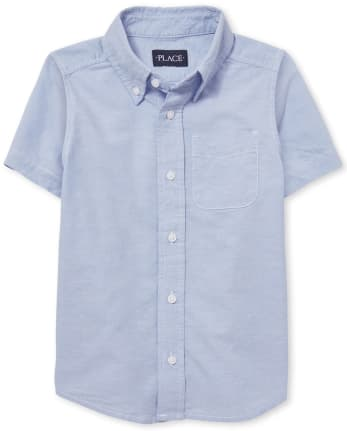 Boys Uniform Oxford Button Down Shirt