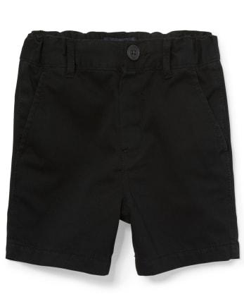 Pantalones cortos chinos de uniforme para bebés y niños pequeños