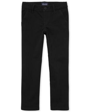 Girls Uniform Stretch Skinny Chino Pants