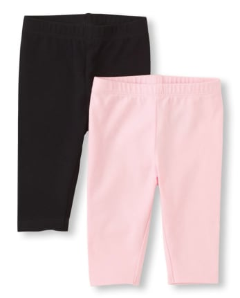 Toddler Girls Capri Leggings 2-Pack