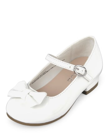 Toddler Girls Bow Low Heel Shoes