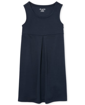 Girls Uniform Sleeveless Knit Jumper