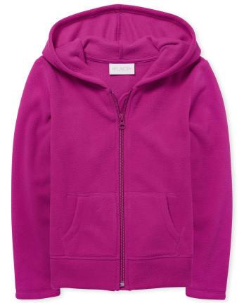 Girls Uniform Glacier Fleece Zip Up Hoodie