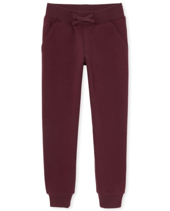 Girls Uniform Active Fleece Jogger Pants