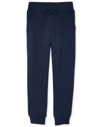 Girls Uniform Active Fleece Jogger Pants