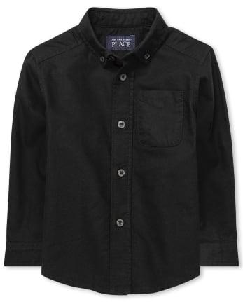 Toddler Boys Uniform Oxford Button Down Shirt