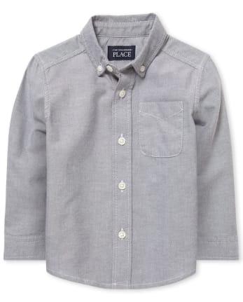 Camisa Oxford con botones de uniforme para niños pequeños