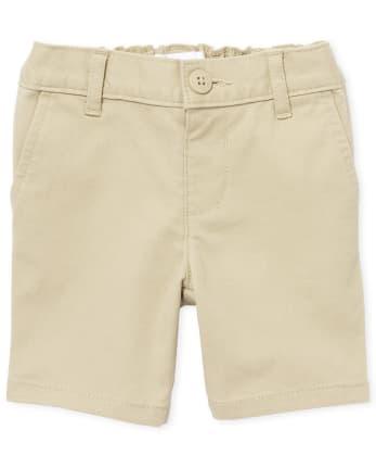 Pantalones cortos chinos de uniforme para niñas pequeñas