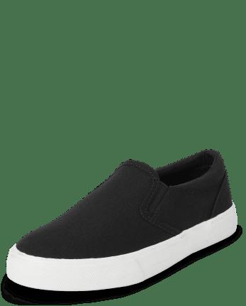 Boys Uniform Slip On Sneakers