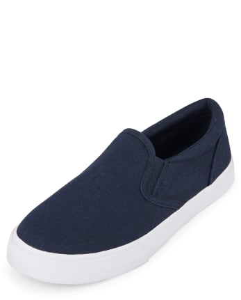 Boys Uniform Slip On Sneakers