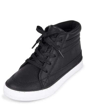 Boys Uniform Hi Top Sneakers