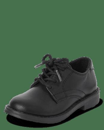 Zapatos de vestir con cordones uniformes para niños pequeños