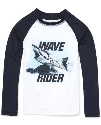 Boys Long Raglan Sleeve Graphic Rashguard