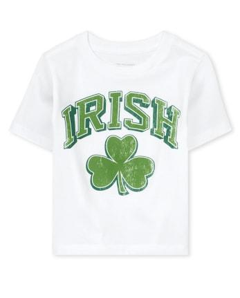 Camiseta unisex con gráfico de trébol irlandés del día de San Patricio ' s para bebés y niños pequeños