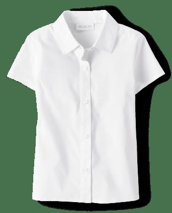 Girls Uniform Poplin Button Down Shirt