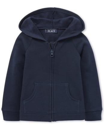 Toddler Girls Uniform Fleece Zip Up Hoodie