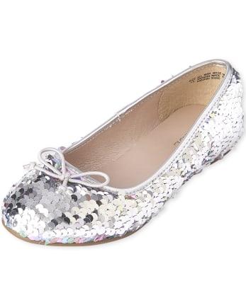 Girls Cutie Flat Sequin Ballerina Flat /'Shoes/'