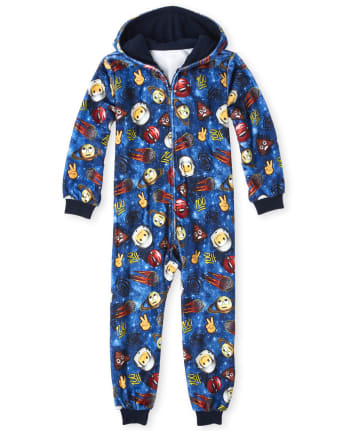 The Childrens Place Big Girls Emoji 2 Piece Sleepwear