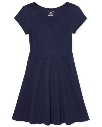 Girls Uniform Skater Dress