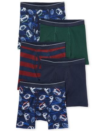 Boys 6 Pack Football Underwear Boxer Shorts