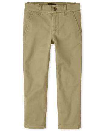 Boys Uniform Stretch Skinny Chino Pants