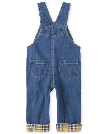 Baby And Toddler Boys TINY COLLECTIONS Patch Graphic Denim Overalls - Mr  Fix It