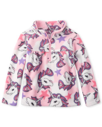 Toddler Girls Print Glacier Fleece Half Zip Pullover