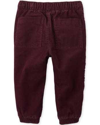Baby Clothes Children/'s Clothes Burgundy Stretch Corduroy Grow With Me Pants Toddler Clothes Baby Pants 3-12 months